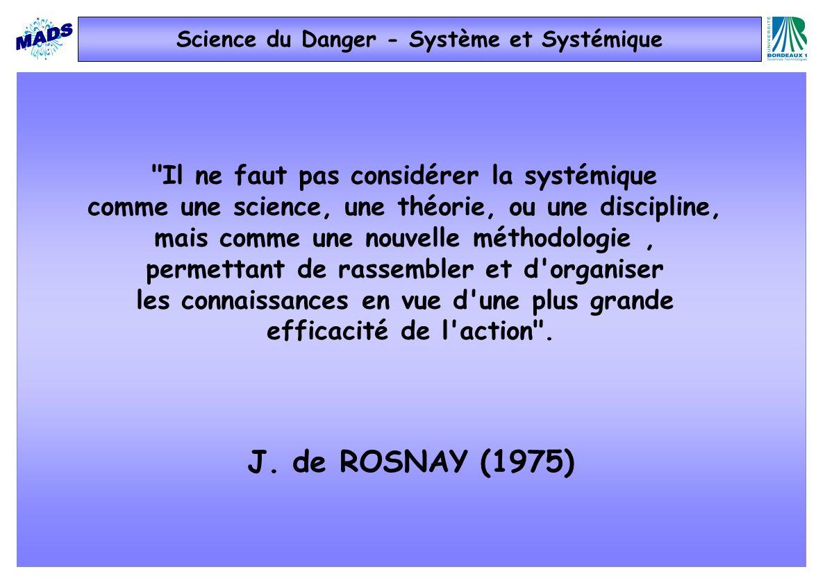 Science du Danger - Système et Systémique