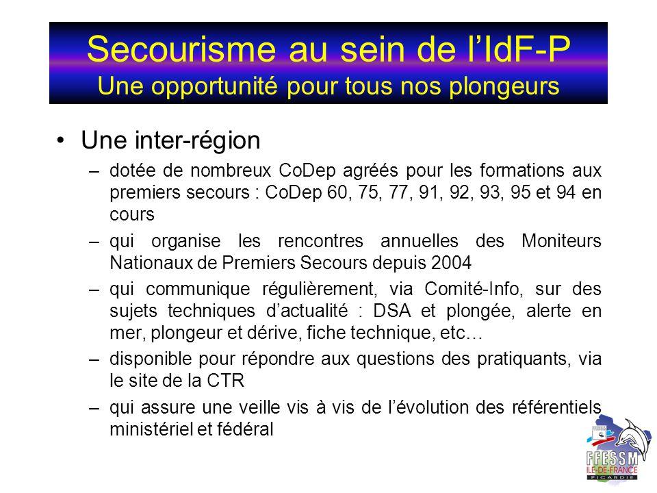 Secourisme au sein de l'IdF-P Une opportunité pour tous nos plongeurs