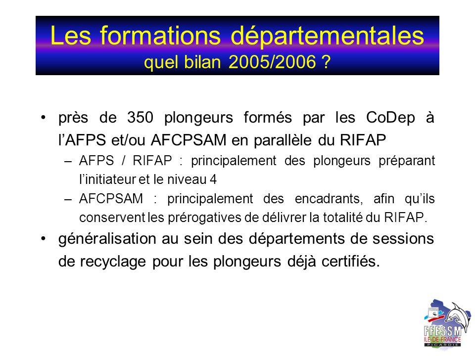 Les formations départementales quel bilan 2005/2006