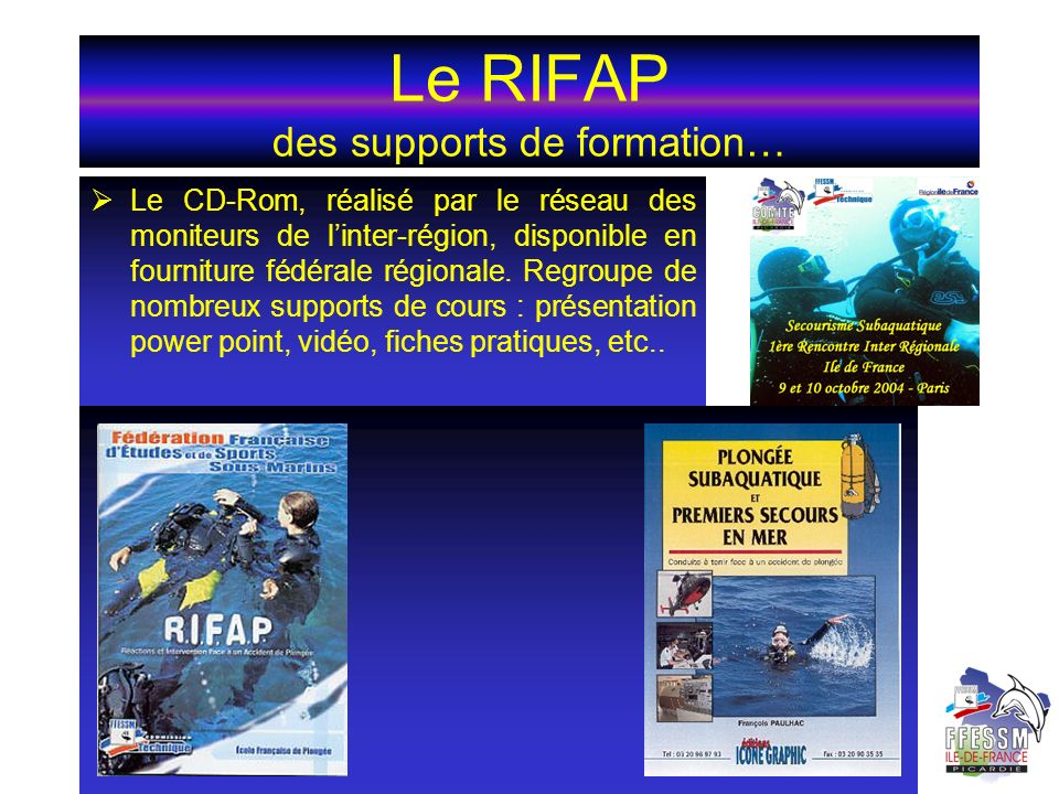 Le RIFAP des supports de formation…