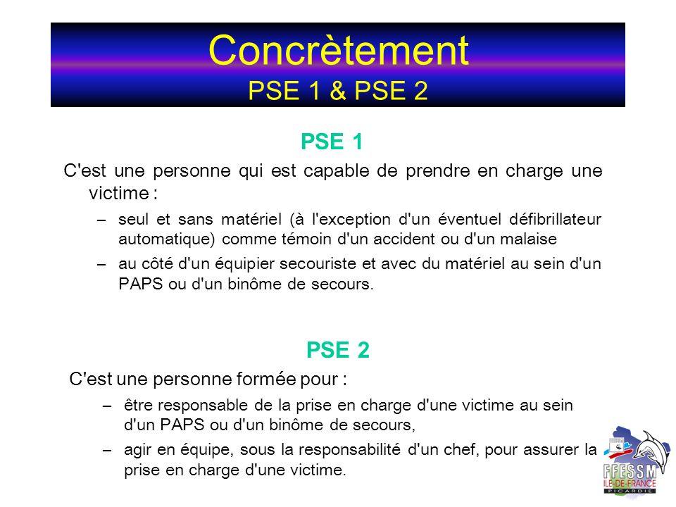 Concrètement PSE 1 & PSE 2 PSE 1 PSE 2