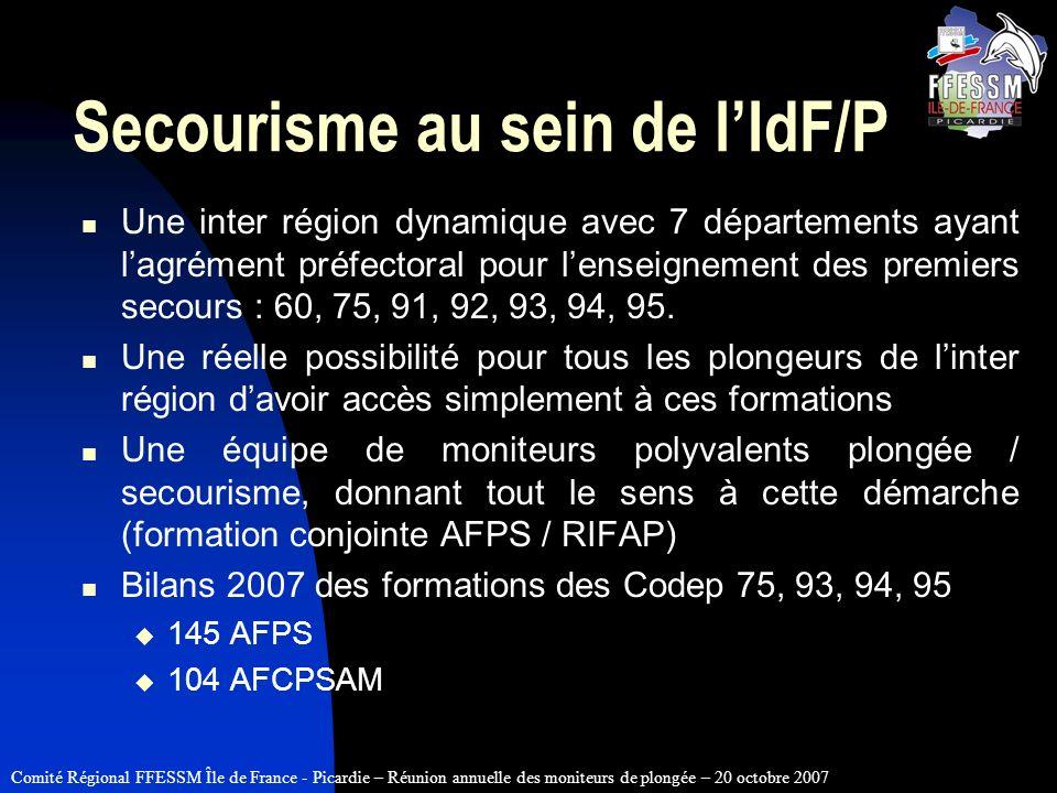 Secourisme au sein de l'IdF/P