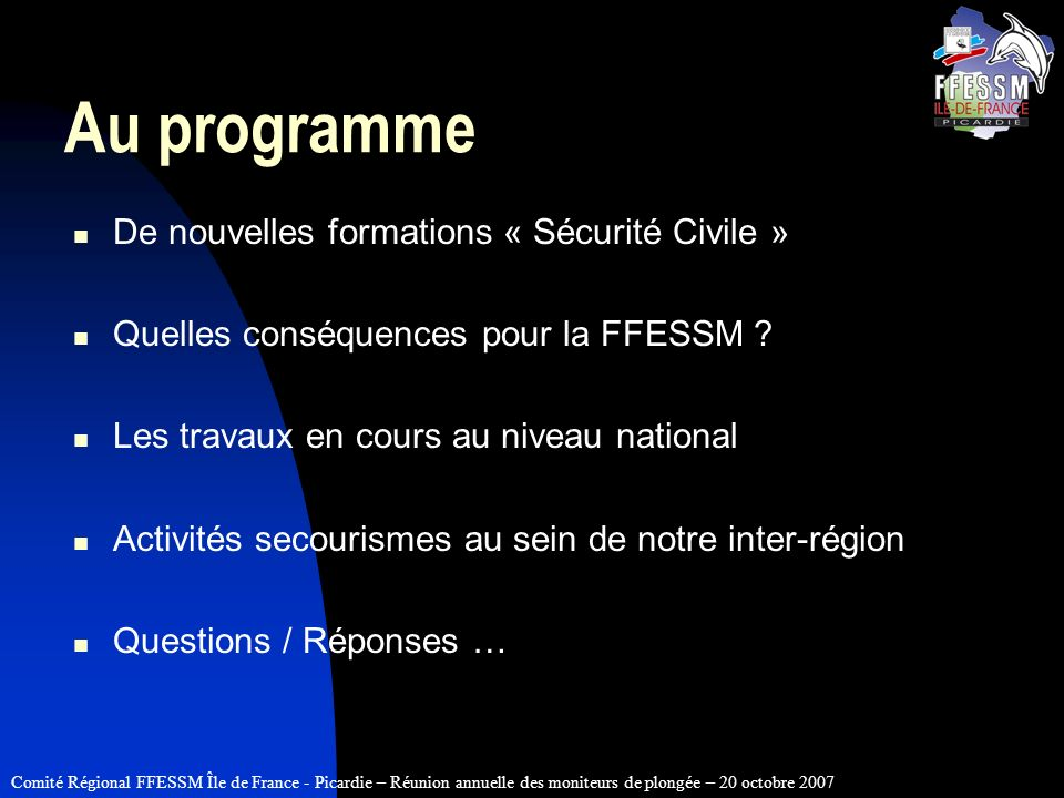 Au programme De nouvelles formations « Sécurité Civile »