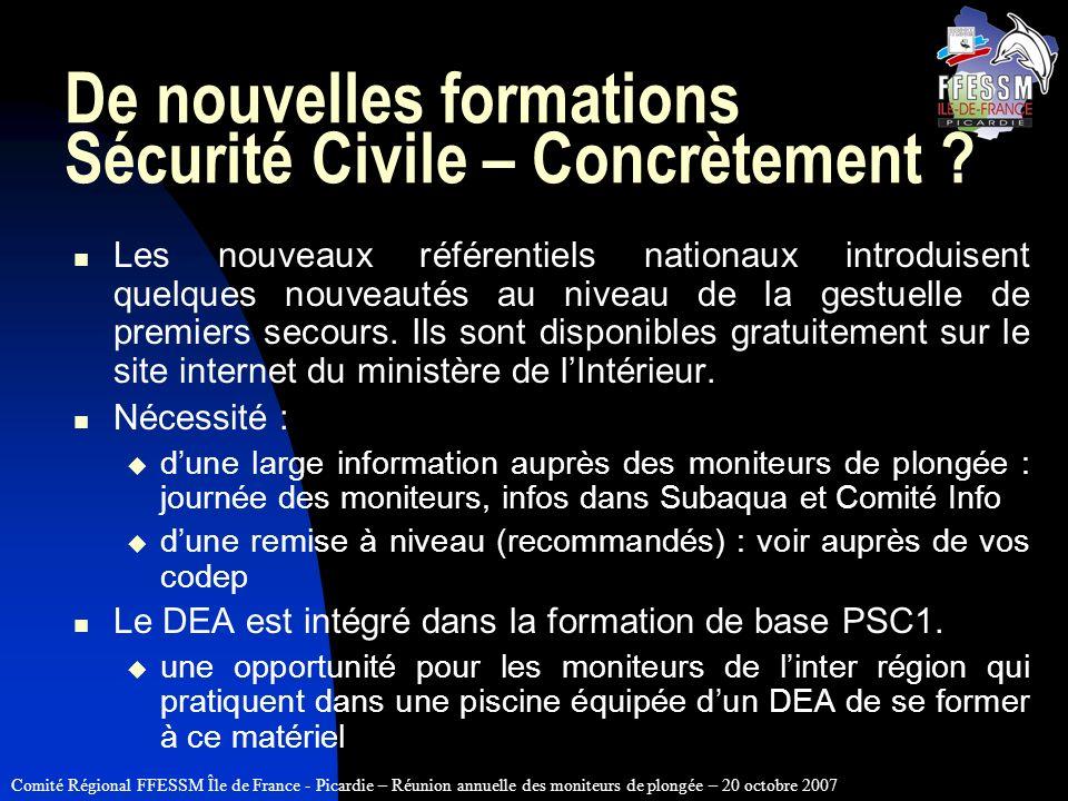 De nouvelles formations Sécurité Civile – Concrètement