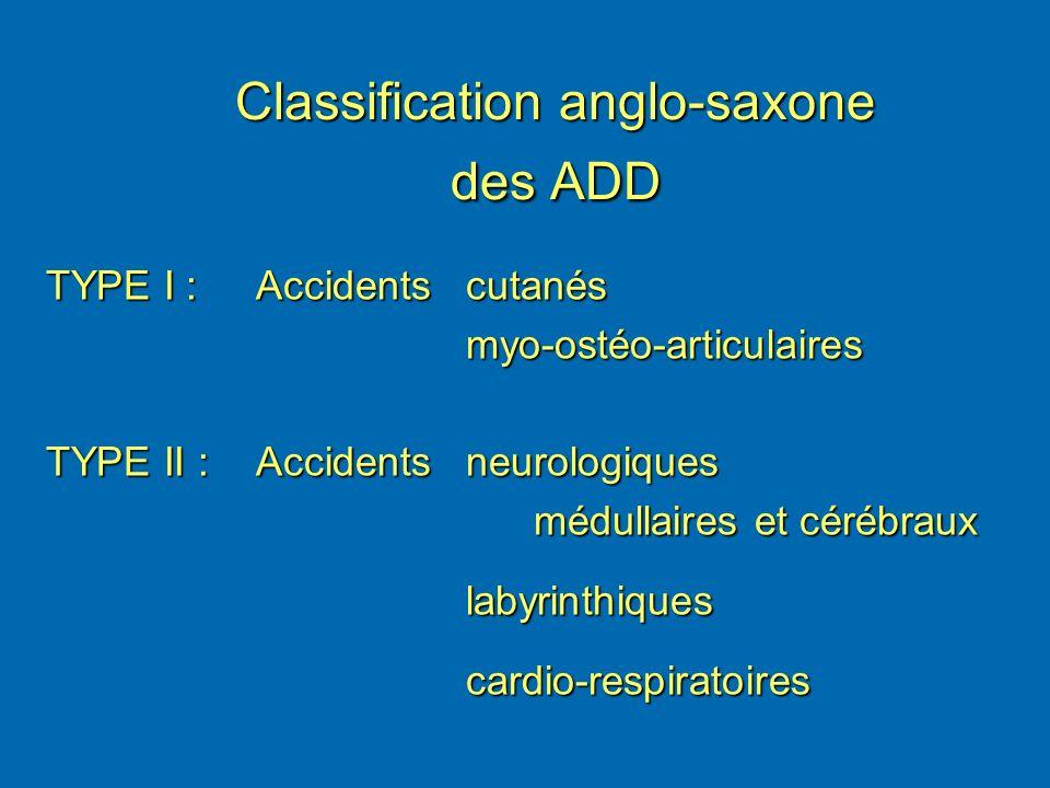 Classification anglo-saxone des ADD