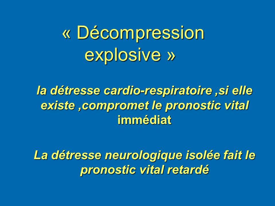 « Décompression explosive »