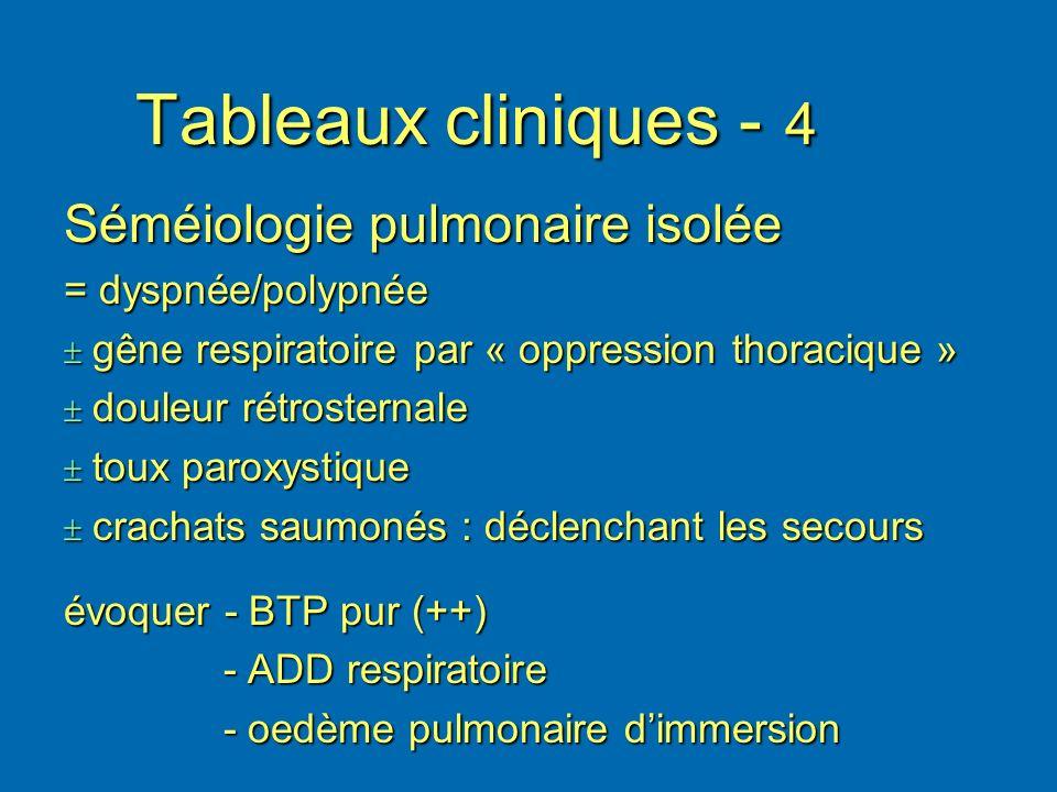 Tableaux cliniques - 4 Séméiologie pulmonaire isolée