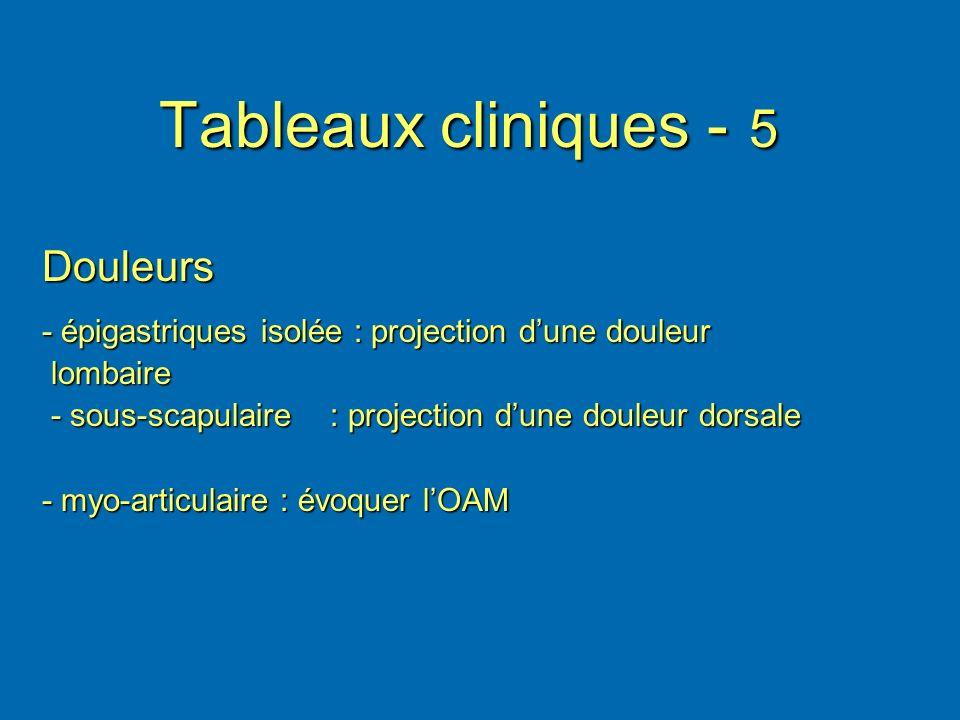 Tableaux cliniques - 5 Douleurs
