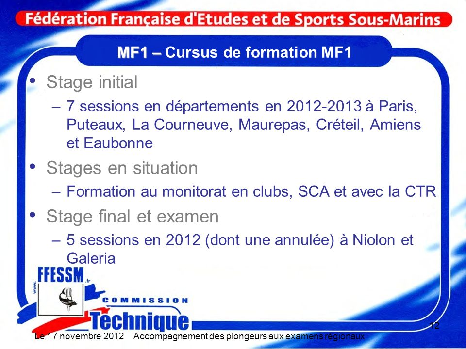 MF1 – Cursus de formation MF1