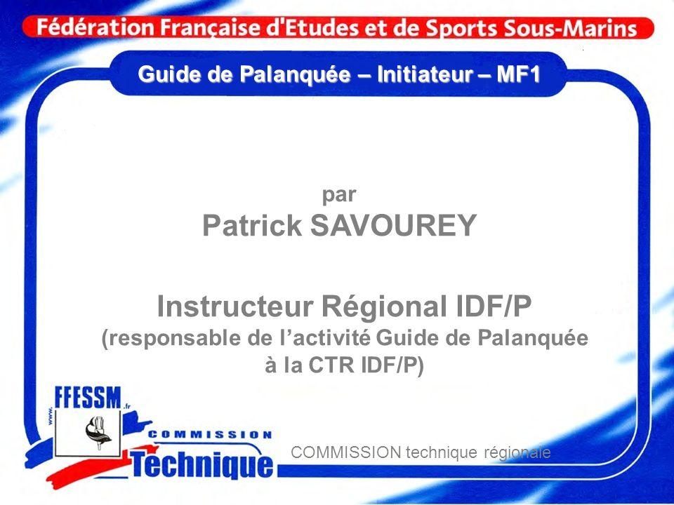 Guide de Palanquée – Initiateur – MF1
