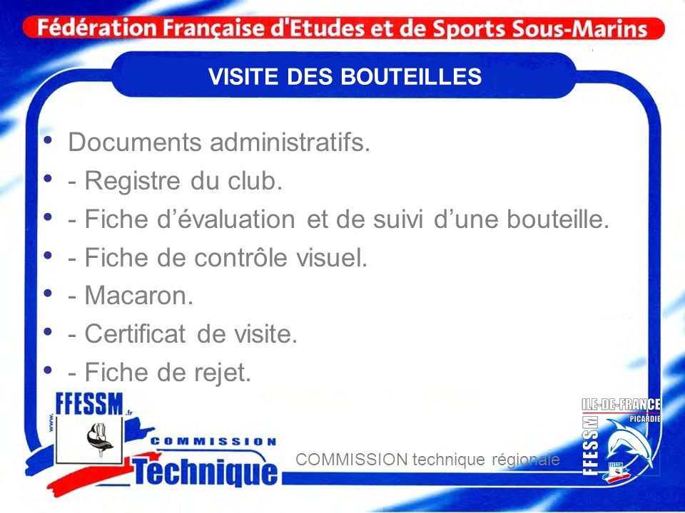 Documents administratifs. - Registre du club.