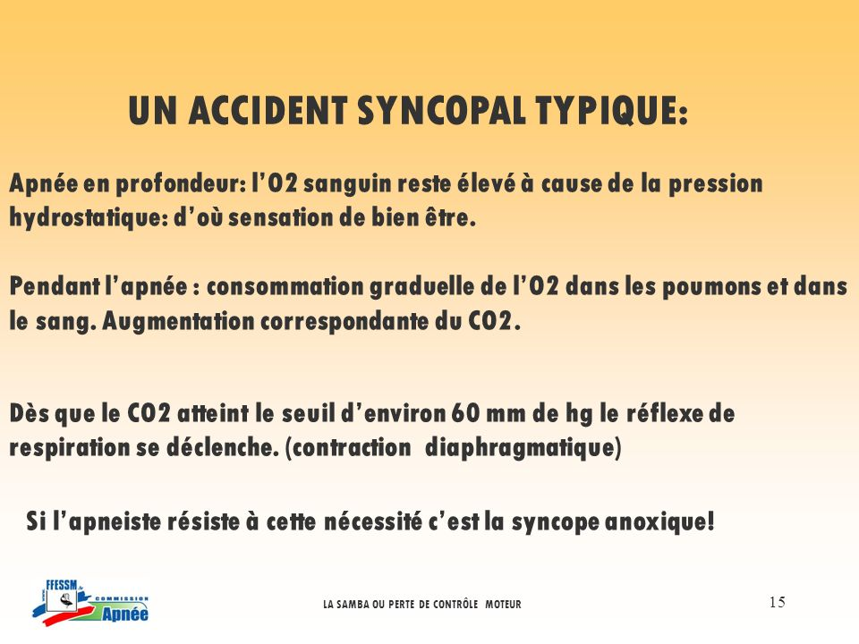 UN ACCIDENT SYNCOPAL TYPIQUE: