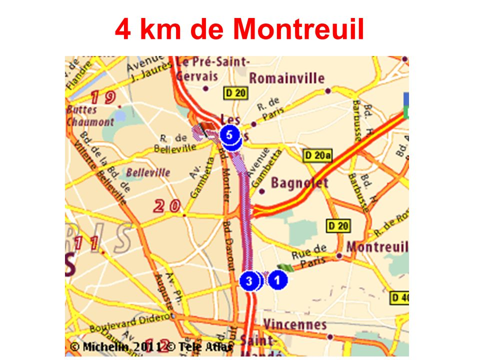 4 km de Montreuil