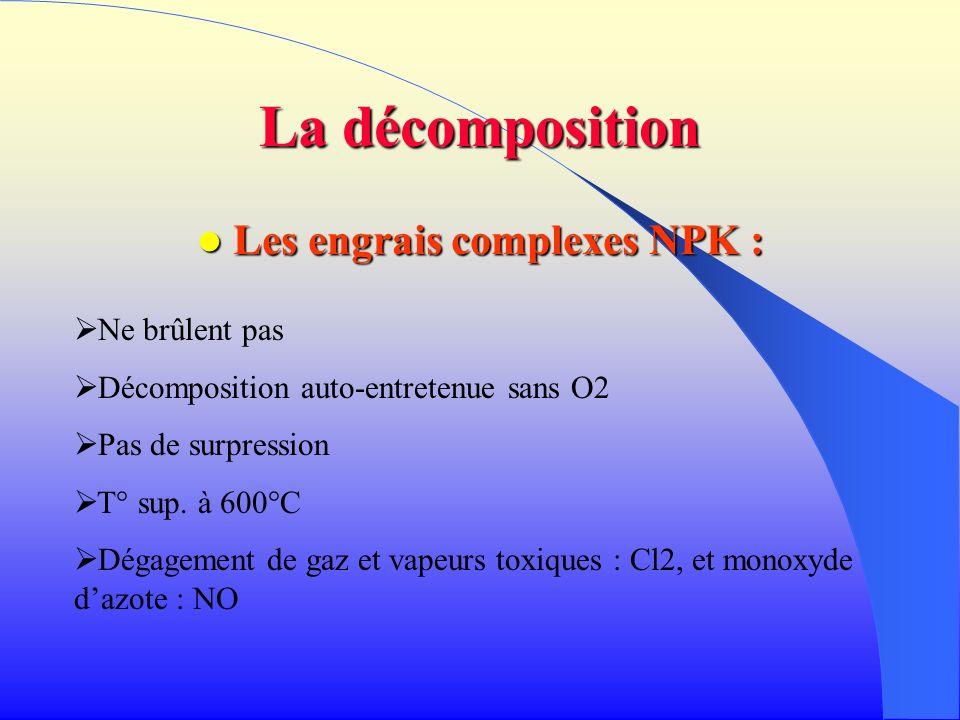 Les engrais complexes NPK :