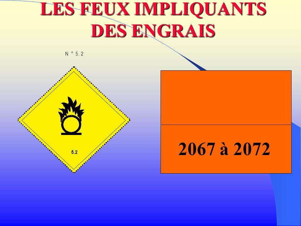 LES FEUX IMPLIQUANTS DES ENGRAIS