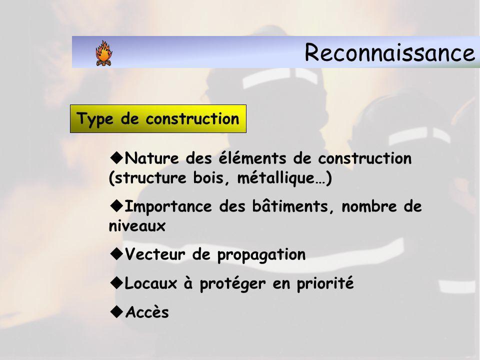 Reconnaissance Type de construction