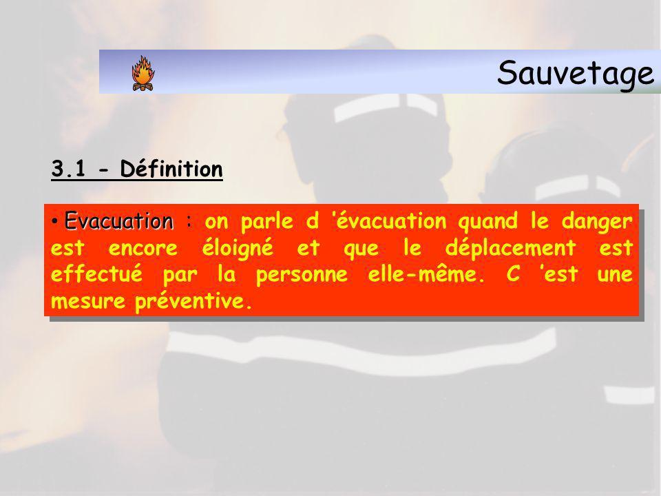 Sauvetage 3.1 - Définition