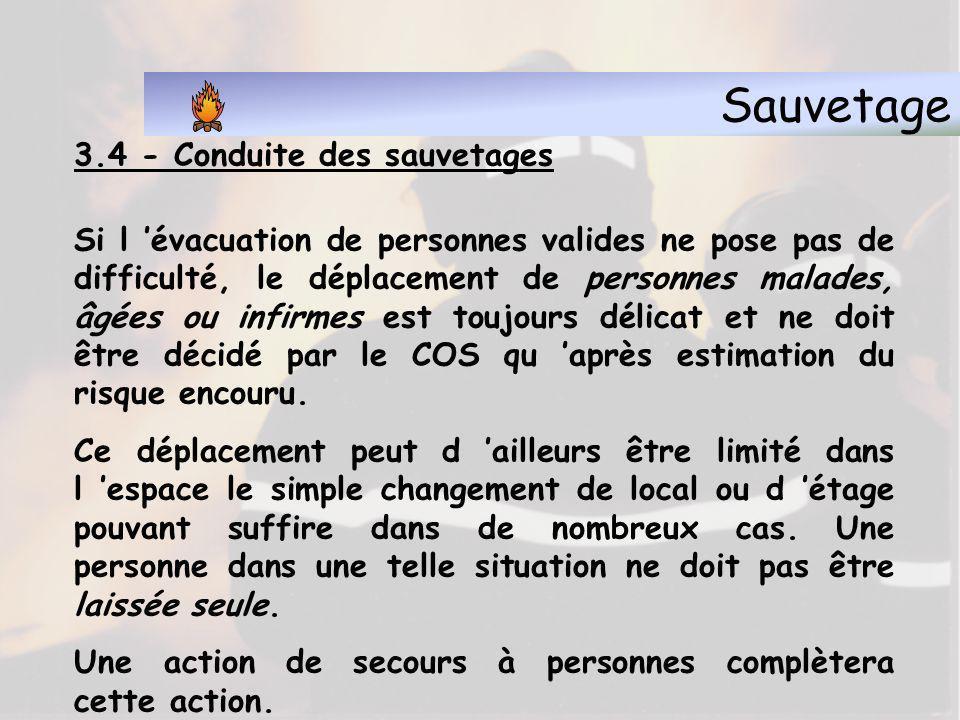 Sauvetage 3.4 - Conduite des sauvetages