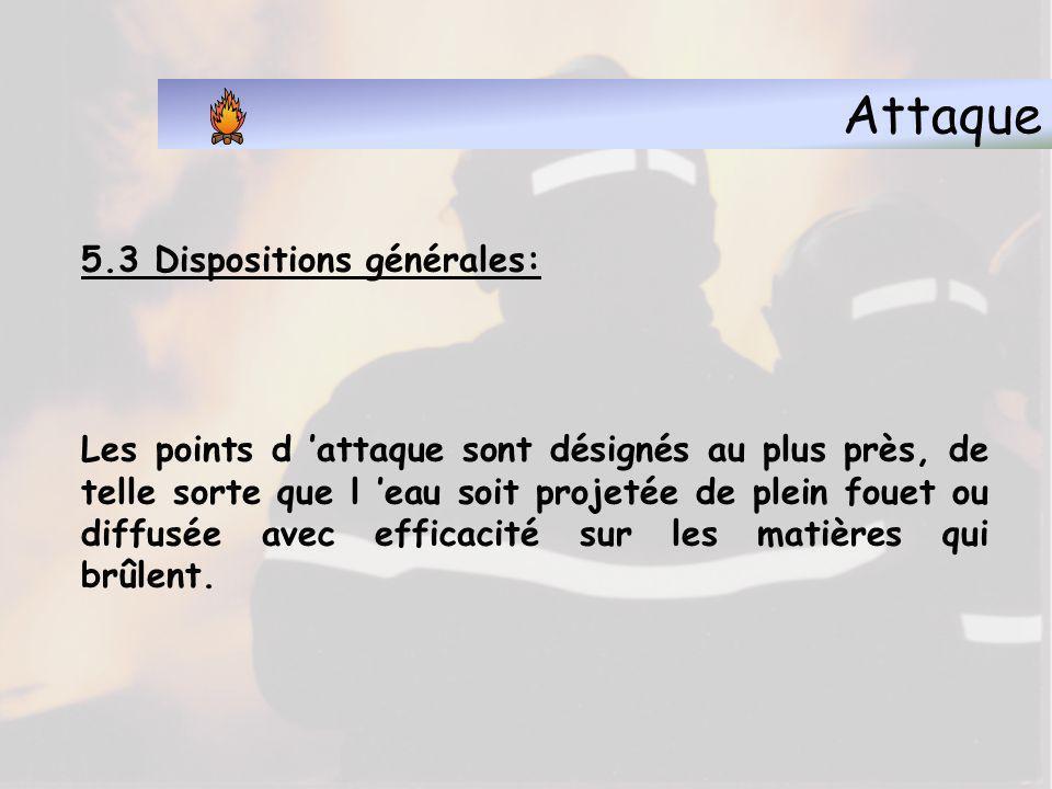 Attaque 5.3 Dispositions générales:
