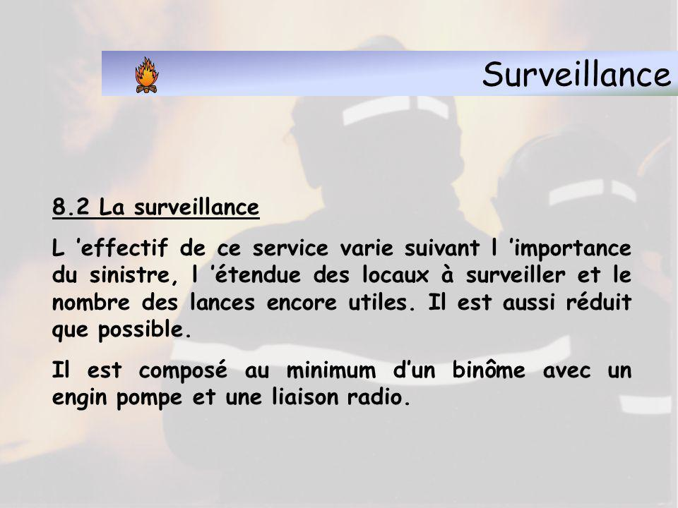 Surveillance 8.2 La surveillance