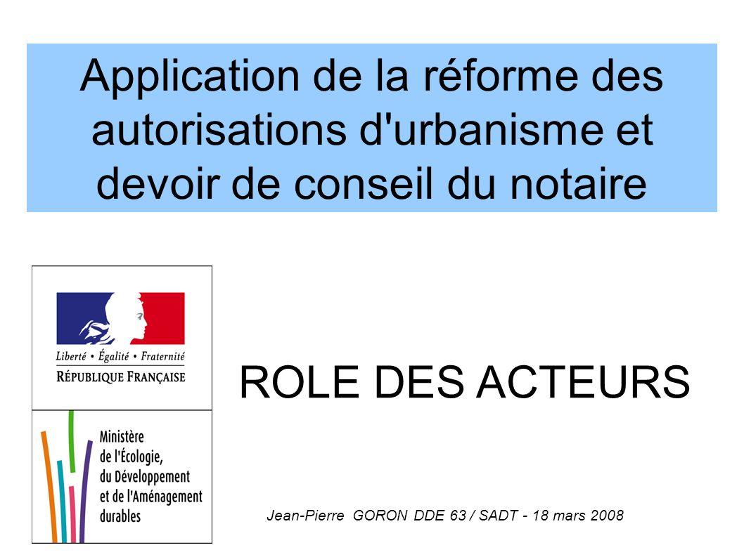 Jean-Pierre GORON DDE 63 / SADT - 18 mars 2008