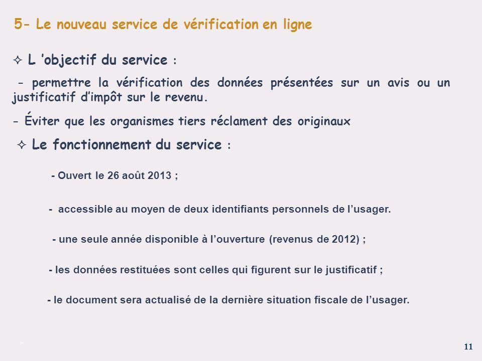 5- Le nouveau service de vérification en ligne