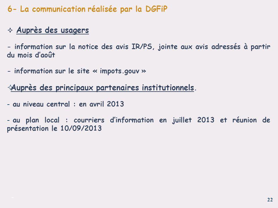 6- La communication réalisée par la DGFiP