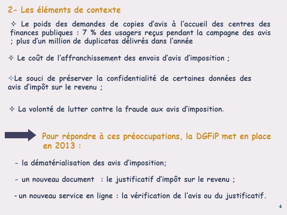  La volonté de lutter contre la fraude aux avis d'imposition.