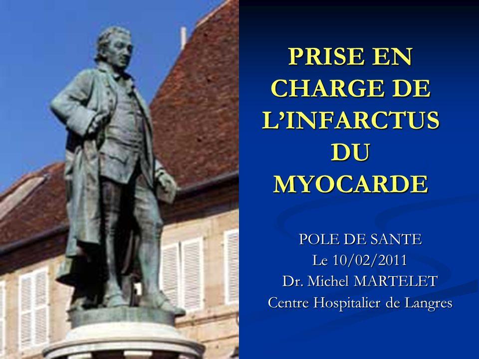 PRISE EN CHARGE DE L'INFARCTUS DU MYOCARDE