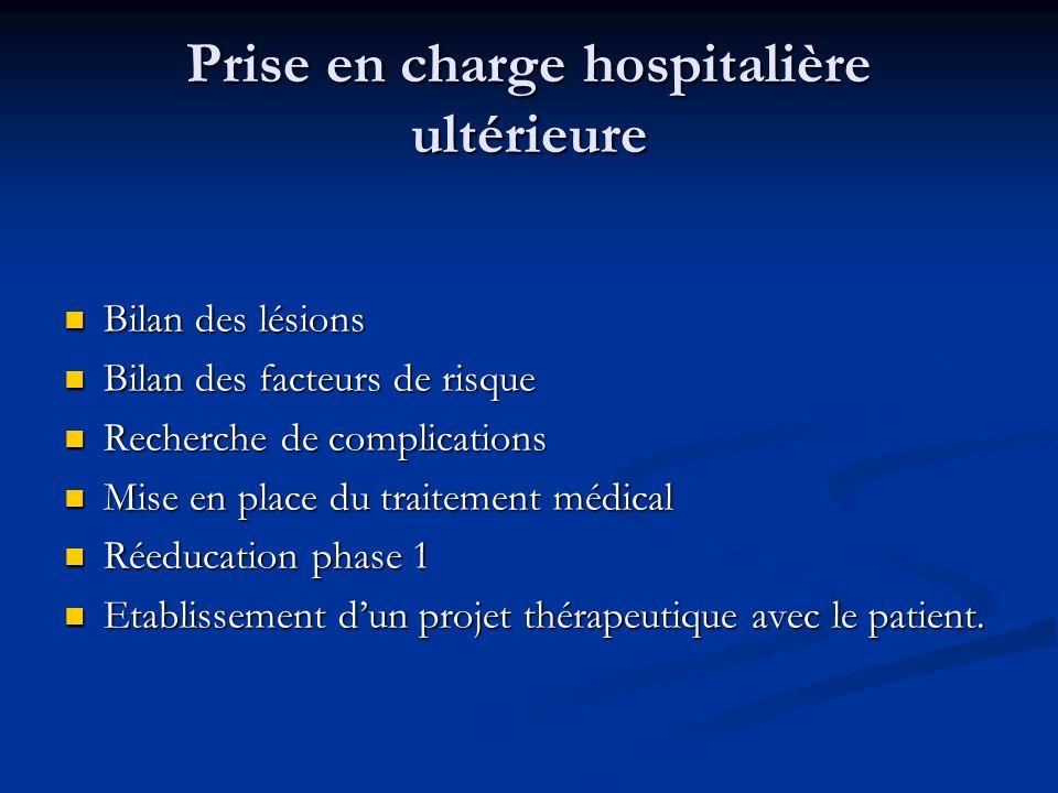 Prise en charge hospitalière ultérieure
