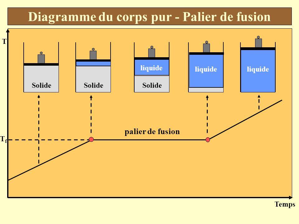 Diagramme du corps pur - Palier de fusion