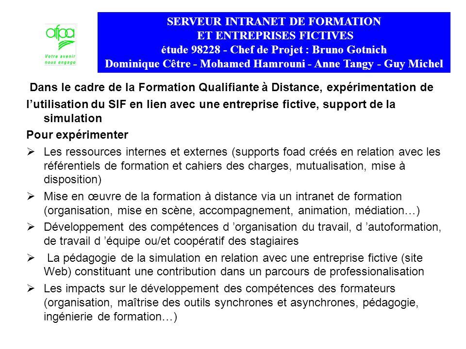 SERVEUR INTRANET DE FORMATION ET ENTREPRISES FICTIVES
