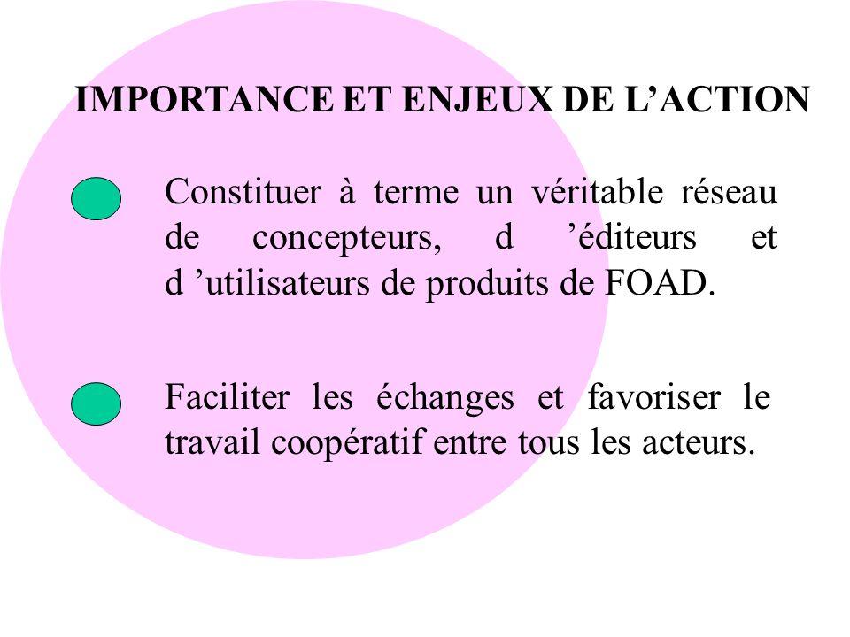 IMPORTANCE ET ENJEUX DE L'ACTION