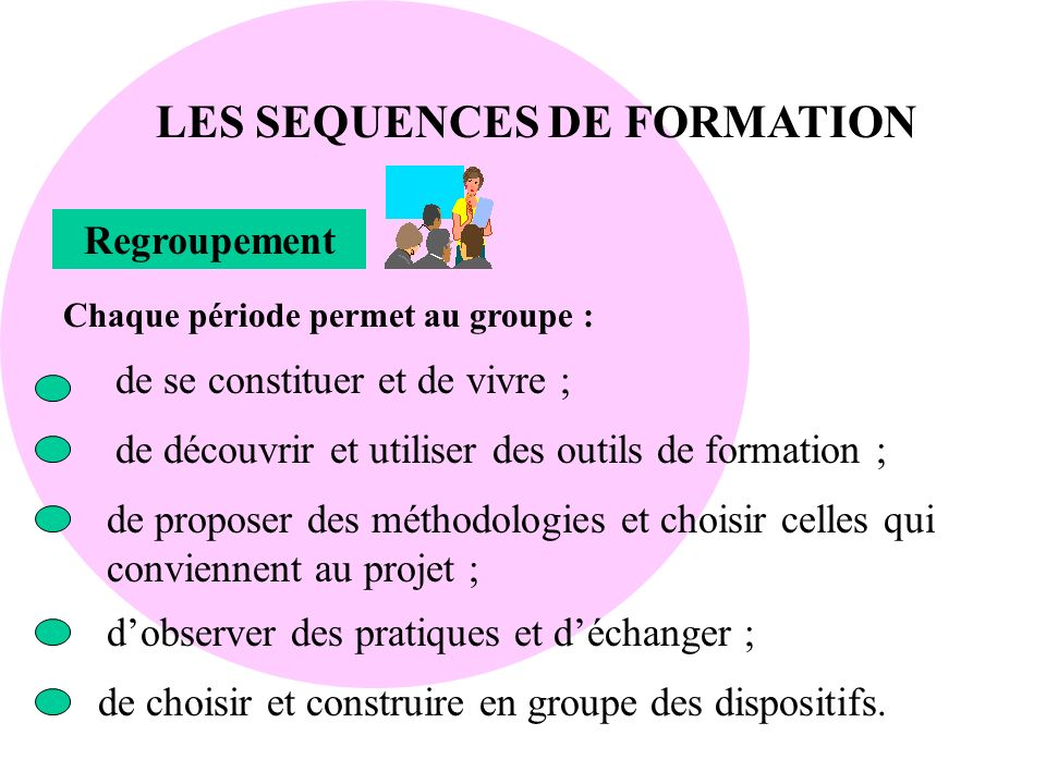 LES SEQUENCES DE FORMATION