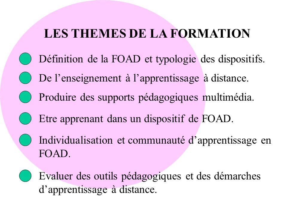 LES THEMES DE LA FORMATION