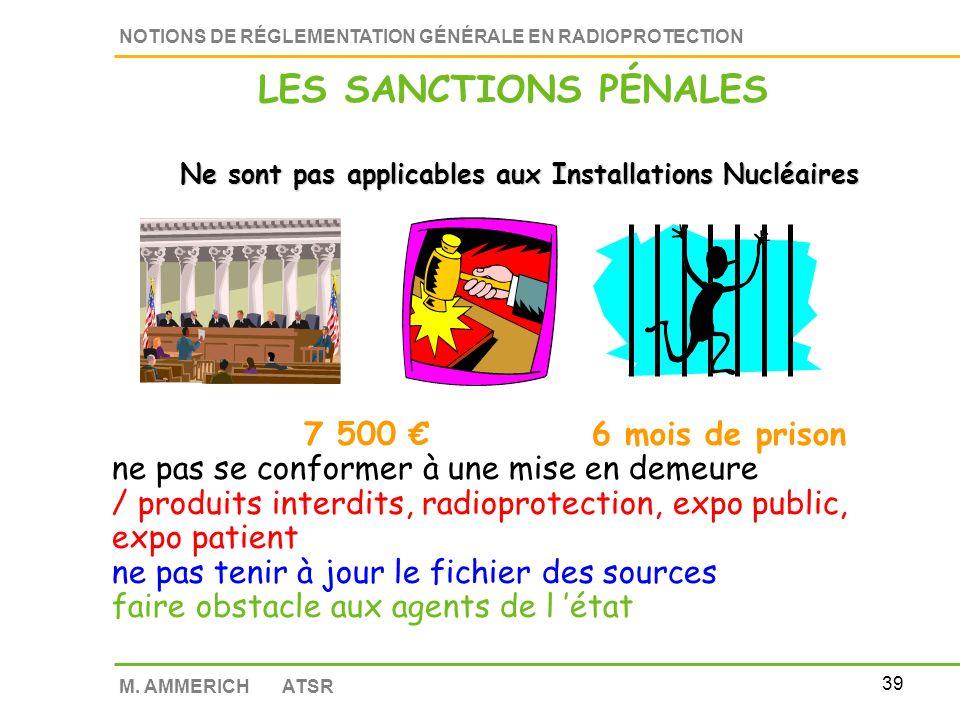 LES SANCTIONS PÉNALES 7 500 € 6 mois de prison
