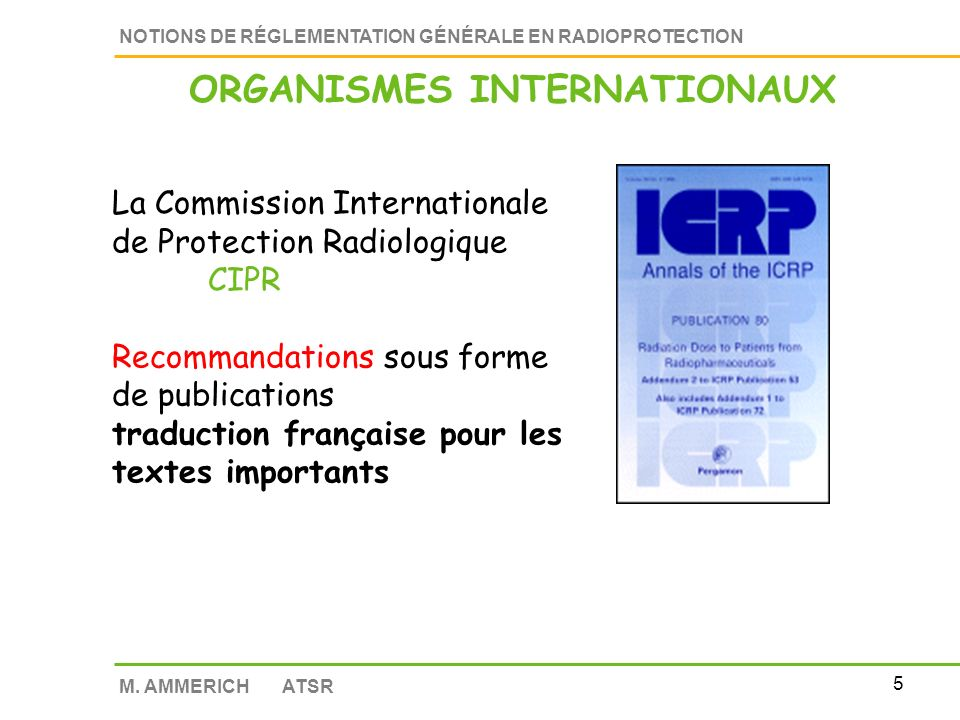 ORGANISMES INTERNATIONAUX