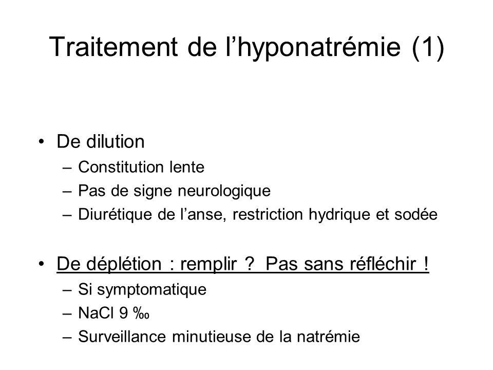 Traitement de l'hyponatrémie (1)
