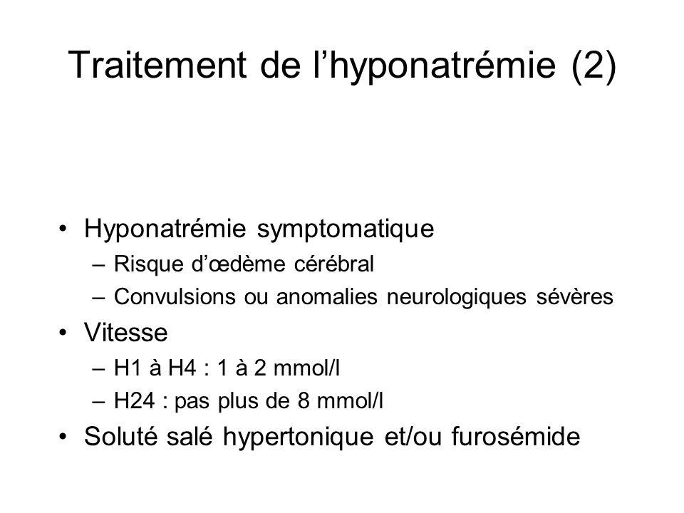 Traitement de l'hyponatrémie (2)