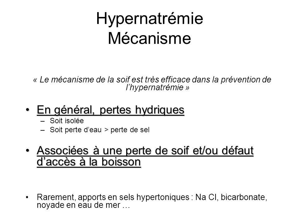 Hypernatrémie Mécanisme
