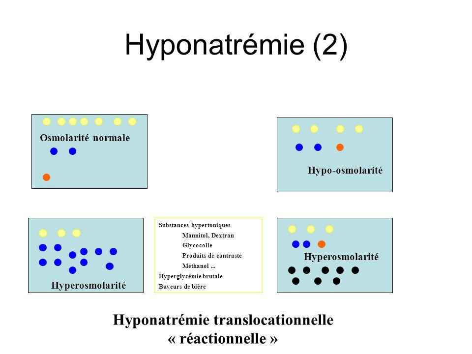 Hyponatrémie translocationnelle « réactionnelle »