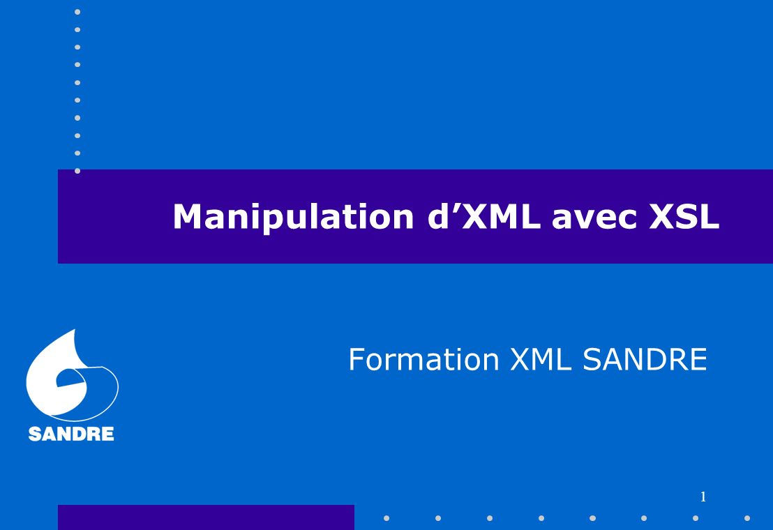 Manipulation d'XML avec XSL