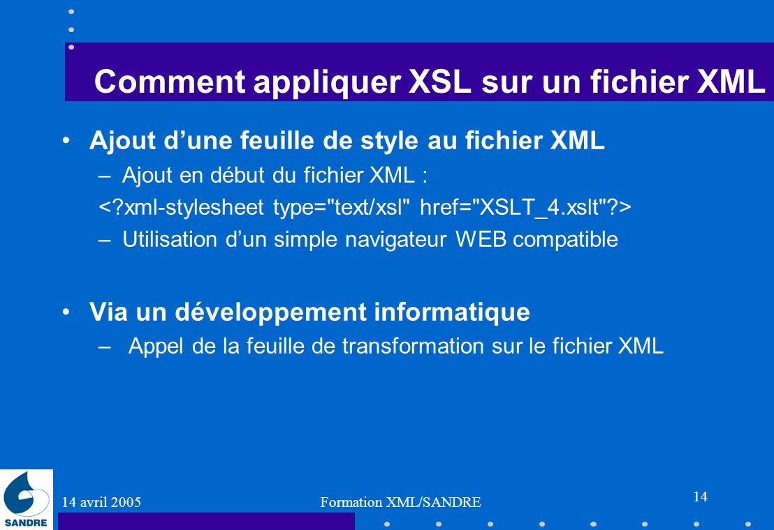 Comment appliquer XSL sur un fichier XML