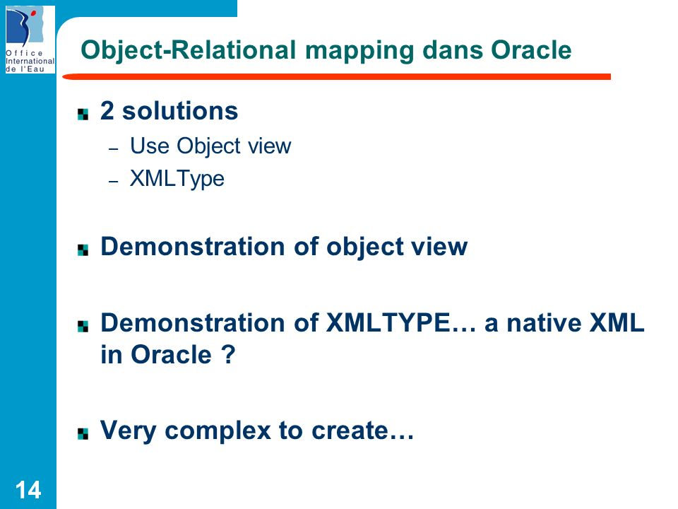 Object-Relational mapping dans Oracle