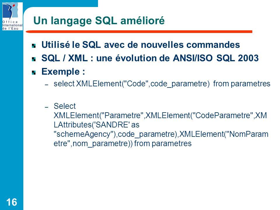 Un langage SQL amélioré