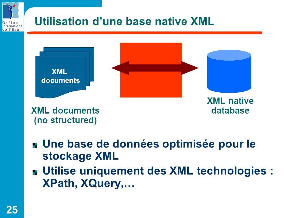 Utilisation d'une base native XML
