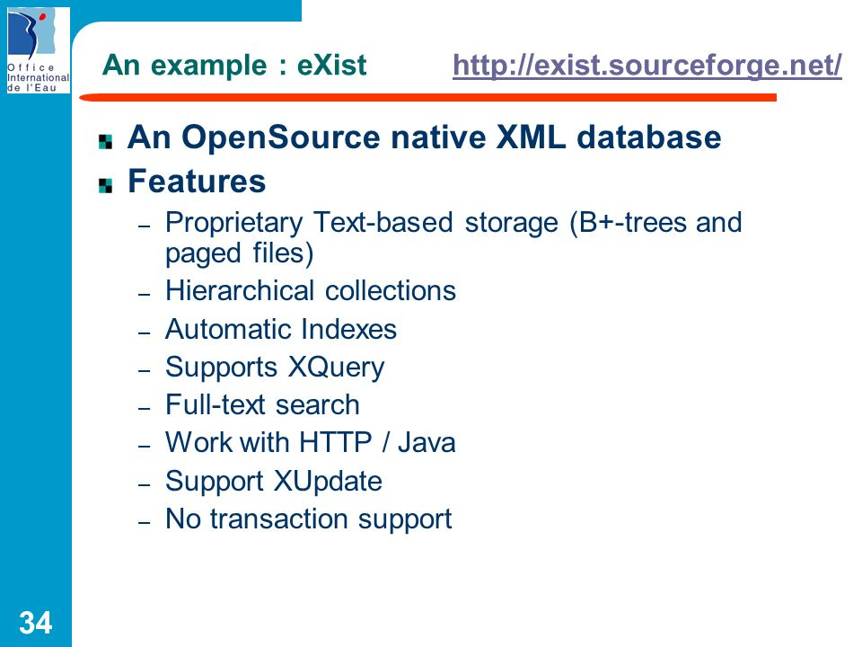 An example : eXist http://exist.sourceforge.net/