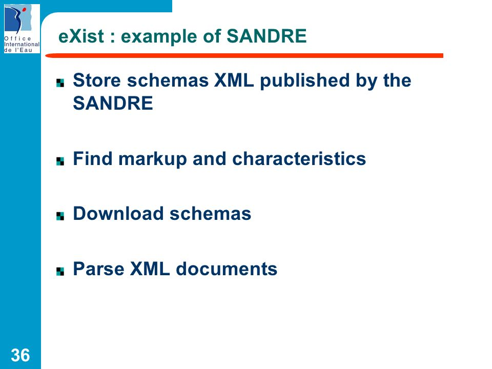 eXist : example of SANDRE