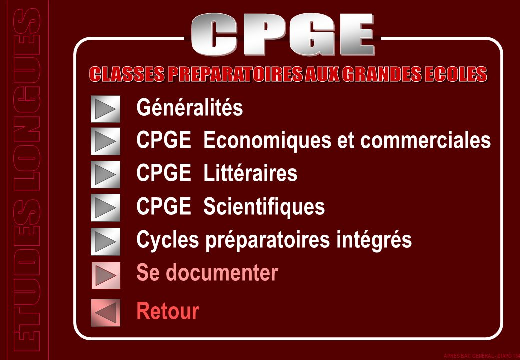 CLASSES PREPARATOIRES AUX GRANDES ECOLES