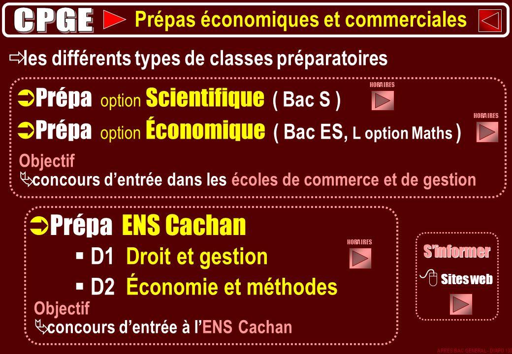 Prépa ENS Cachan CPGE Prépa option Scientifique ( Bac S )